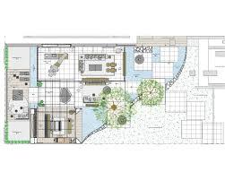 bird eye sketch indoor outdoor house interior design