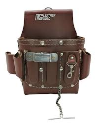 leather gold leather electrician tool pouch brown professional tool belt 3400