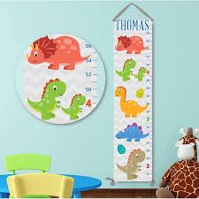 Cute Growth Chart Cute Dinosaur Personalized Growth Chart