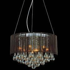 beautiful drum shade chandelier for home lighting fixture and bedroom design ideas