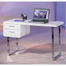 high gloss office furniture. Claude Computer Desk In High Gloss White With Chrome Legs Office Furniture T