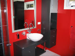 Awesome Picture Of Red Black And White Bathroom Ideas Black And Red Bathroom  Creative Decoration Ideas