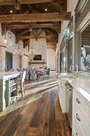 Barn Interior Design Adorable Kitchen With Real Reclaimed Plank Hardwood Flooring Barn Wood