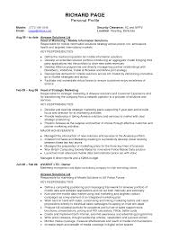 Writing A Profile For A Resume Resume For Study