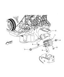 2009 dodge nitro engine mounting left side diagram i2226433