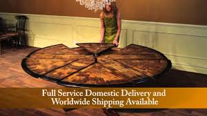 round expandable dining table for sale. jupe tables for sale, expandable round to with self storing leaves - youtube dining table sale e