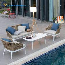 luxury 4pcs waterproof lounge outdoor