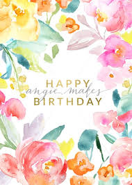 Painted Flowers Birthday Card Download Flowers Birthday Card With
