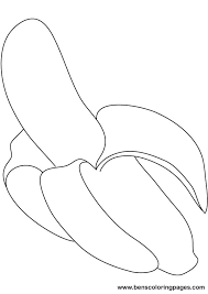 Small Picture Banana coloring pages printable