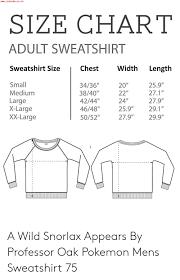 X Large Size Chart Wwwjojocmsconz Size Chart Adult Sweatshirt Sweatshirt Size