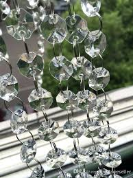 ft crystal garland strands clear acrylic octagon beads chain wedding party tree hanging decorations decoration for