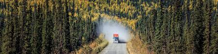 Image result for image of black jeep cherokee along dalton highway