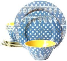 melamine dinnerware sets uk set for 4 vintage blue dinner salad plates dishes bowls mel melamine dish sets