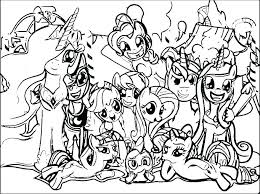 My Little Pony Coloring Pictures Q9873 Little Pony Color Pages