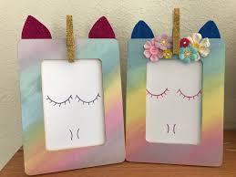 kathy s angelnik designs art project ideas easy diy rainbow unicorn frame