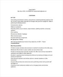 Custodian Resume Template 6 Free Word Pdf Documents