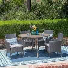 Outdoor wicker dining sets Patio Seating Valena Outdoor Piece Acacia Wood And Wicker Dining Set Gdf Studio Valena Outdoor Piece Acacia Wood And Wicker Dining Set Gdf