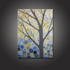 interior design yellow and wall art custom will looking amazing modern decoration handmade polish painting polish