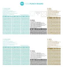 123 Punch Board Charts We R Memory Keepers