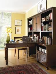 creative ideas home office. Office:Creative Office Idea With Light Brown Paint And Hardwood Furnishings On Persian Carpet Creative Ideas Home E