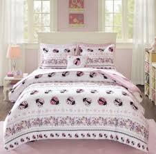 pink white girls lady bug erfly fl stripe comforter set sheets bedding