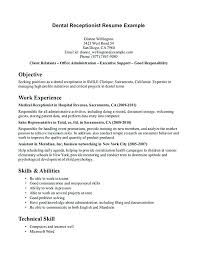 Medical Receptionist Resume Objective Sample Medical Receptionist