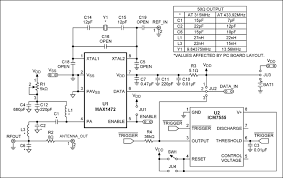 ism transmitter has constant transmitter power for varying supply schematics for the max1472 and max1947 ev kits