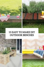 15 easy to make diy outdoor benches cover