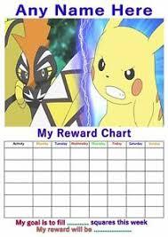 Pokemon Behaviour Chart Details About Personalised Childrens A4 Reward Behaviour Chart Pokemon And Stickers 3