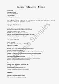 Police Volunteer Sample Resume Police Sergeant Resume Samples Visualcv shalomhouseus 2