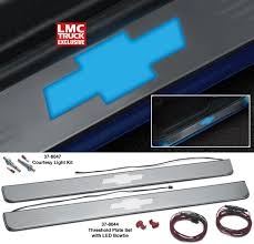 Lighted Threshold Plate Set with LED Bowtie ... The Ultimate ...