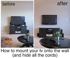 tv to the wall and hiding the cords