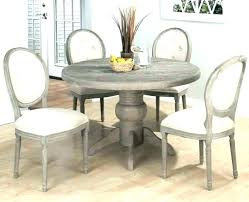 distressed white round dining table wood gray grey washed rustic wooden dini