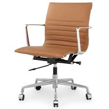 modern office chair leather. alston office chair brown modern leather