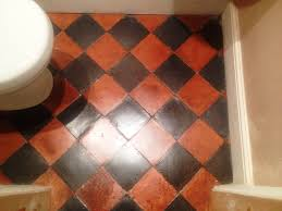 quarry tiles in great ouseburn after cleaning