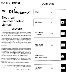 1998 hyundai excel car audio wiring diagram wiring diagram 2004 Hyundai Sonata Stereo Wiring Diagram 1998 hyundai tiburon electrical troubleshooting manual original � table of contents 1998 hyundai excel car