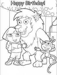 Small Picture Animations A 2 Z Coloring pages of Dora the explorer Happy Birthday