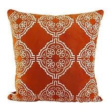 toss pillow covers homey cozy embroidery velvet throw pillow cover orange series white fl soft fuzzy