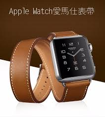 custom made extra long genuine leather for apple watch band double tour bracelet leather watchband for