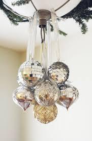 oversized silver ornaments look amazingly festive