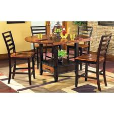 4 chair kitchen table: greyson living acacia  piece counter height lazy susan and storage dining set