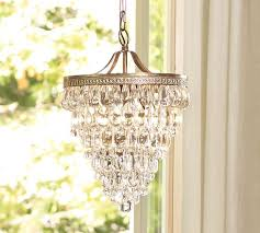 clarissa glass drop small round chandelier pottery barn