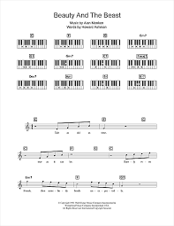 beauty and the beast sheet music beauty and the beast sheet music by alan menken keyboard 109038