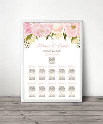 Custom Floral Table Arrangement Or Seating Sign Wedding Seating