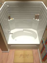 1 piece tub shower whirlpool unit with front access