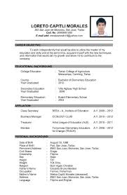 Educational Background On Resume Career Objective Of Obtain