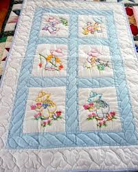 Handmade Amish Baby Quilt - embroidered Overall Sam pattern ... & Handmade Amish Baby Quilt - embroidered Overall Sam pattern. Adamdwight.com