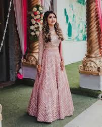 Light Pink Indian Wedding Dress 30 Real Brides Who Wore Magnetising Metallic Lehengas In