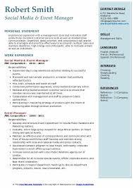 Event Manager Resume Samples Event Manager Resume Samples Qwikresume