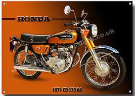 vintage honda motorcycles. Contemporary Motorcycles Image Is Loading HONDACB175K6MOTORCYCLEMETALSIGN1970 On Vintage Honda Motorcycles C